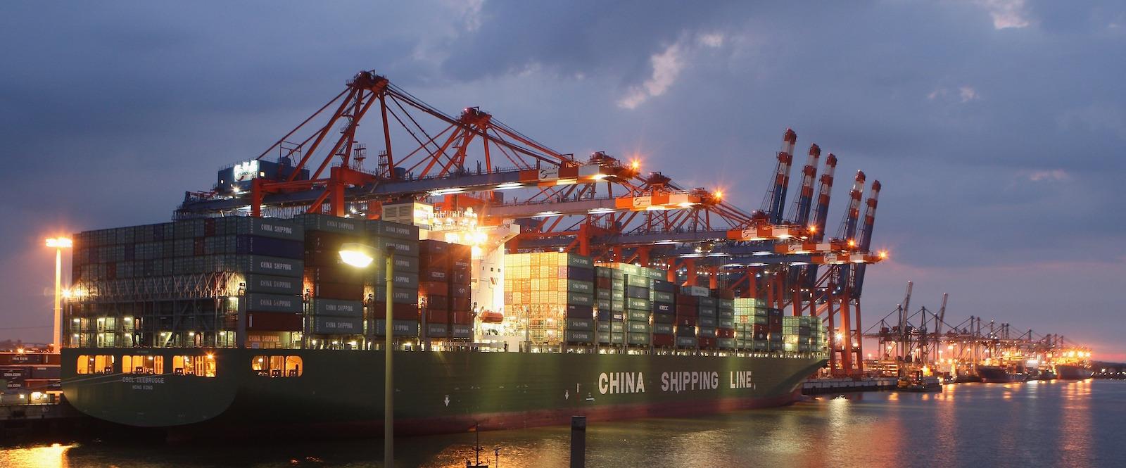 Китай торговля корабль контейнеровоз